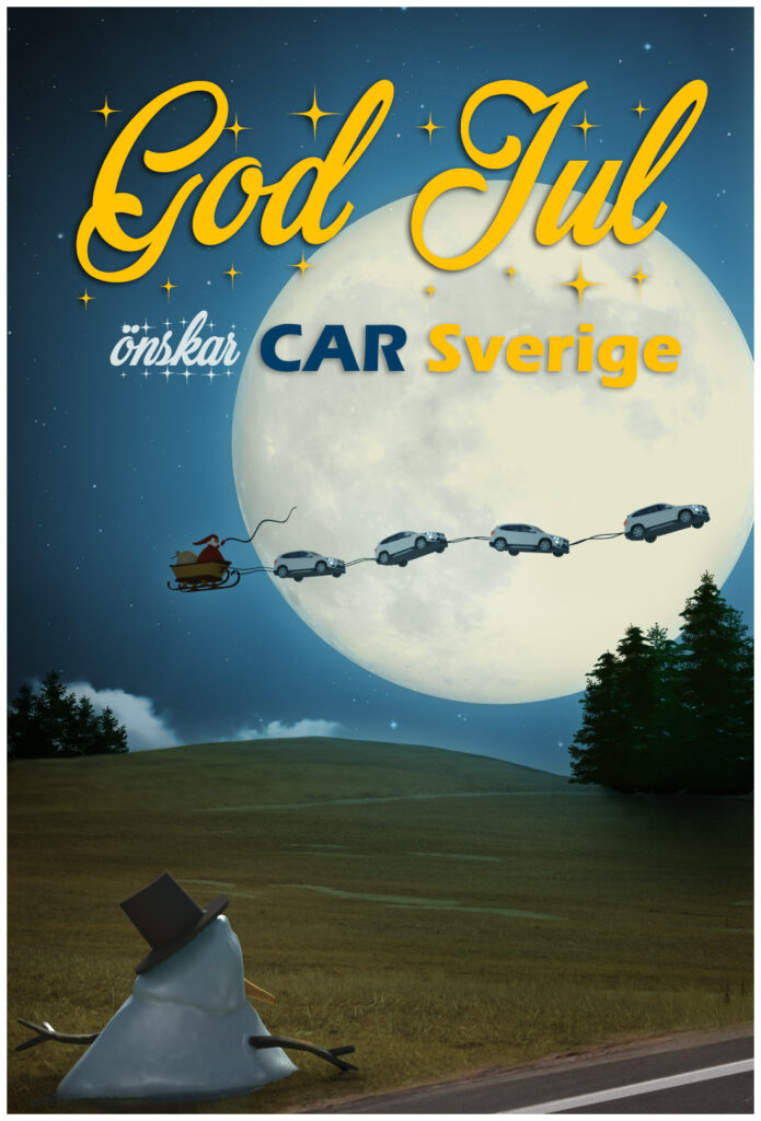 car_sverige_julkort