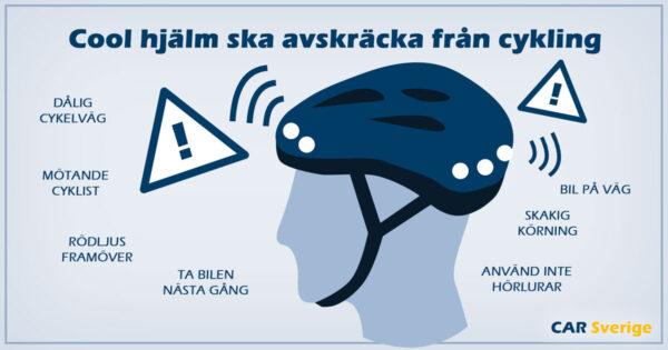 Smart cykelhjälm